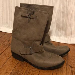Express Tan Suede Boots